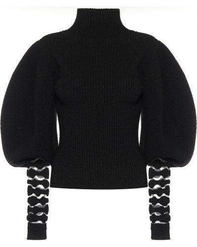Czarny sweter z alpaki Loewe
