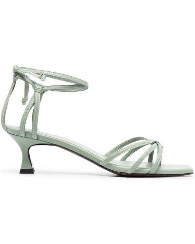 Открытые кожаные сандалии на каблуке Manu Atelier