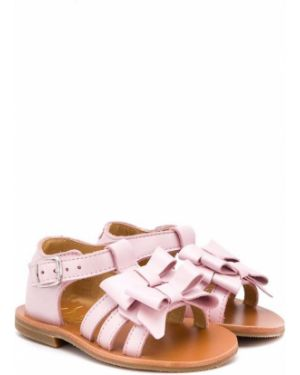 Розовые сандалии с бантом Gallucci Kids