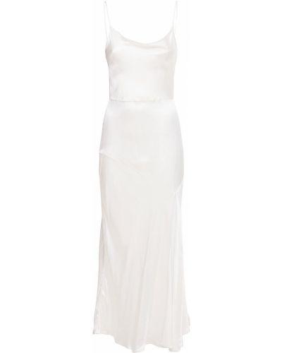 Платье миди атласное - белое Bec & Bridge