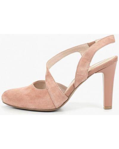 Туфли на каблуке с открытой пяткой замшевые Berkonty