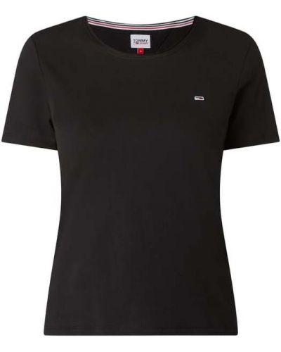 Bawełna bawełna czarny koszula jeansowa z dekoltem Tommy Jeans