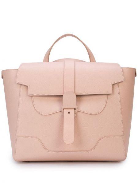 Różowa torebka skórzana Senreve