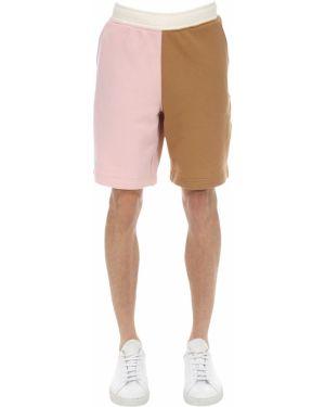 Różowe krótkie szorty z haftem bawełniane Lacoste X Tyler The Creator