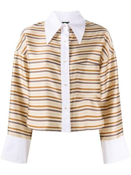 С рукавами рубашка с воротником с карманами на пуговицах Jejia