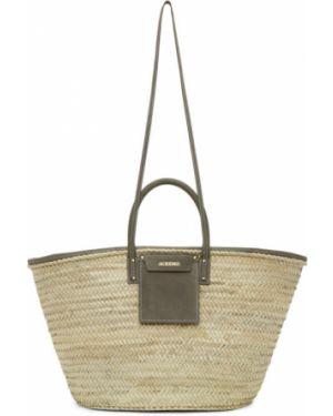 Кожаная сумка соломенная сумка-тоут Jacquemus