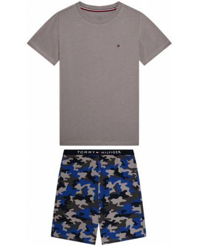 Brązowa piżama z printem Tommy Hilfiger