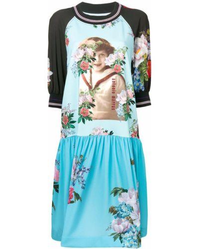 Платье с цветочным принтом со вставками Antonio Marras