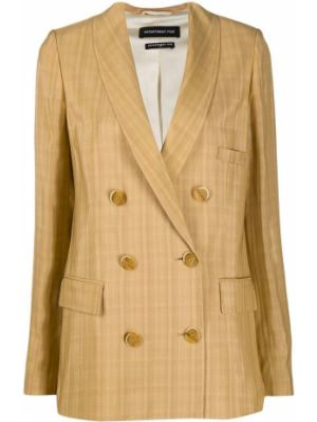 С рукавами коричневый классический пиджак с карманами Department 5