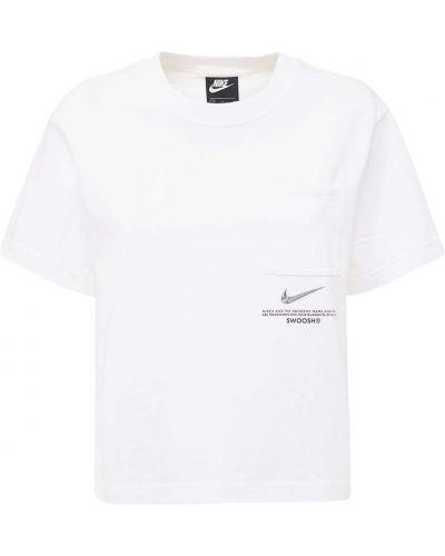 Bawełna biały bawełna top Nike