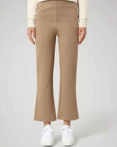 Хлопковые бежевые брюки круглые Napapijri
