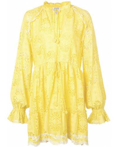 Платье макси с вышивкой с отложным воротником Hemant And Nandita