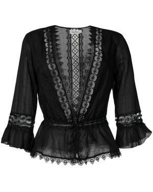 Блузка с вышивкой - черная Charo Ruiz