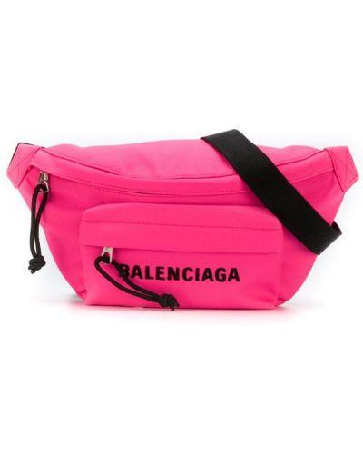 Ремень черный фуксия Balenciaga