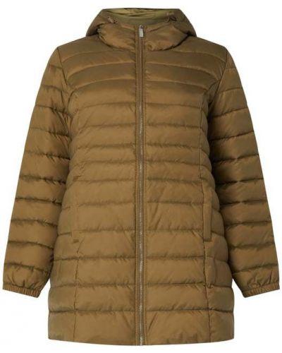 Zielony płaszcz z kapturem z nylonu Only Carmakoma