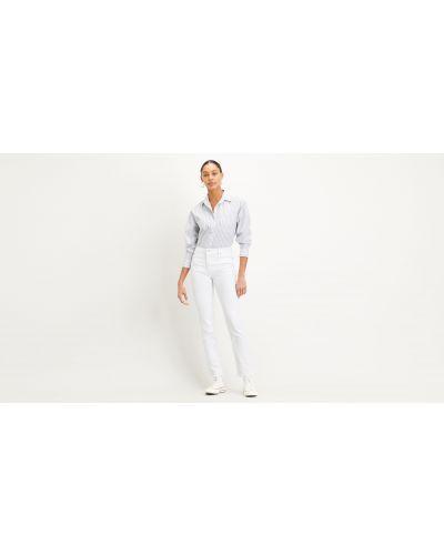 С завышенной талией прямые белые джинсы Levi's®