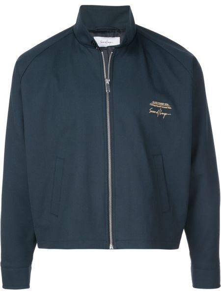 Синяя куртка с вышивкой Second/layer