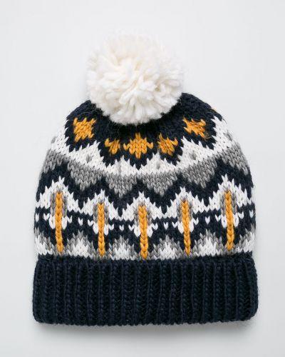 Зимняя шапка облегающий темно-синий Name It