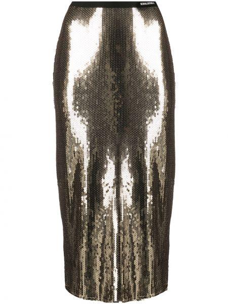 Złota spódnica ołówkowa Redvalentino