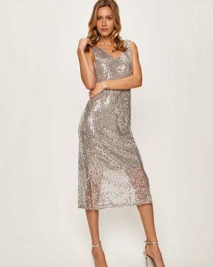 Платье миди с пайетками с декольте Vero Moda