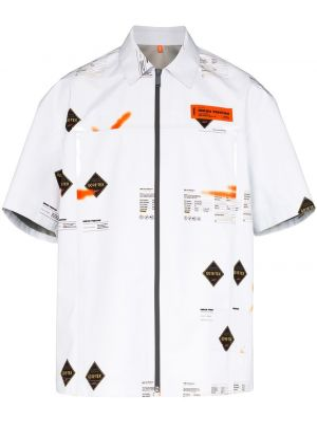 Biała koszula z printem Heron Preston
