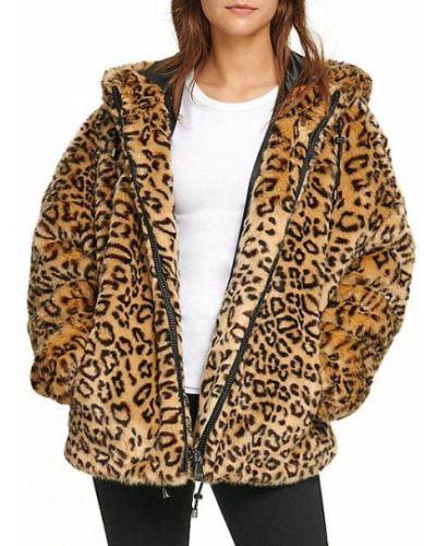 Длинная куртка с капюшоном из искусственного меха с длинными рукавами Dkny