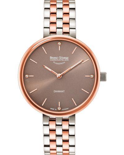 Кварцевые часы водонепроницаемые с бриллиантом Bruno Sohnle