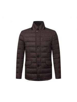 Коричневая итальянская куртка Moorer