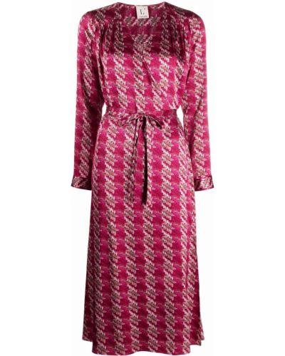 Платье миди на запах - красное Lautre Chose