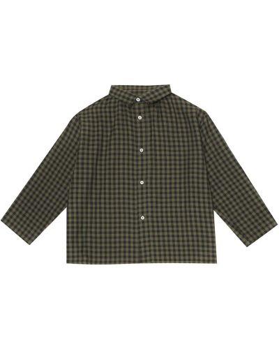 Хлопковая классическая зеленая классическая рубашка на торжество Caramel