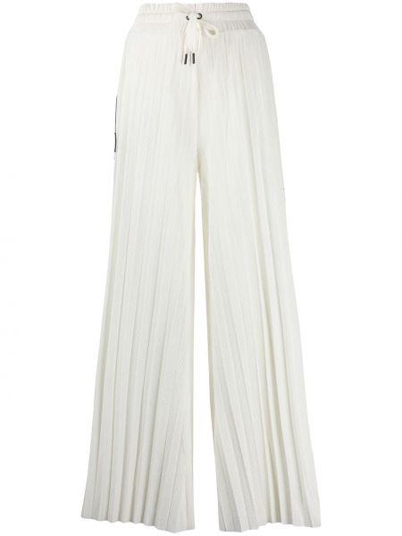 Свободные брюки белые со складками Kappa
