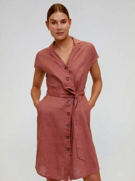 Платье розовое прямое Mango