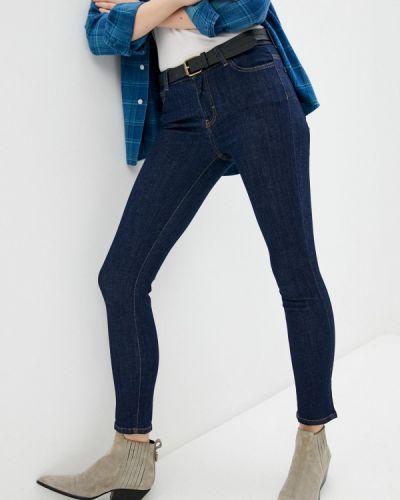 Синие джинсы-скинни узкого кроя Aeronautica Militare