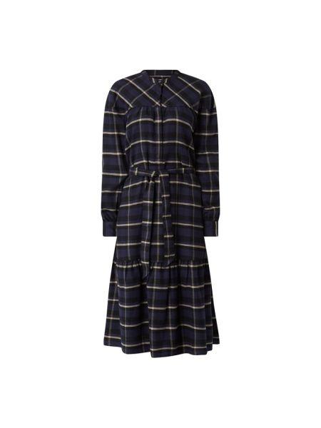 Sukienka mini rozkloszowana z falbanami z długimi rękawami Closed