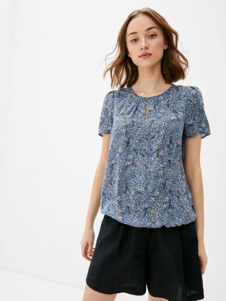 Синяя блузка с коротким рукавом Baon