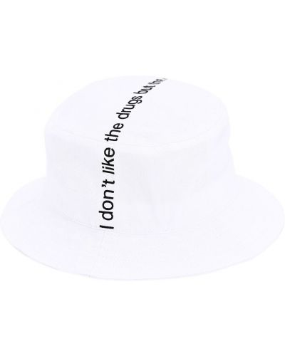 Biały kapelusz Famt - Fuck Art Make Tees