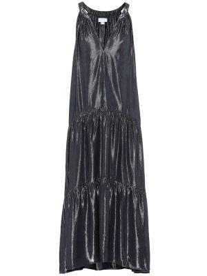 Платье миди с завышенной талией из вискозы Velvet