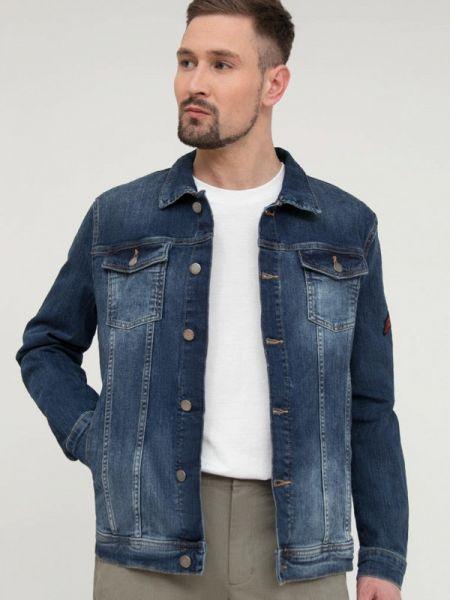 Свободная синяя джинсовая куртка прозрачная свободного кроя Finn Flare