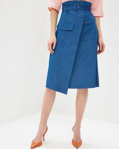Джинсовая юбка синяя Unq