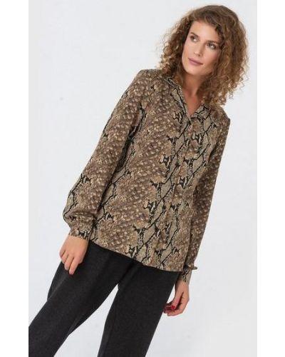 Свободная повседневная прямая блузка из штапеля Vovk