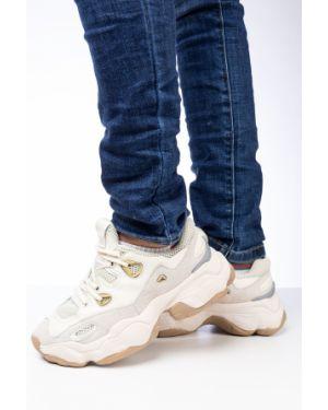 Кожаные бежевые кроссовки Prima D'arte