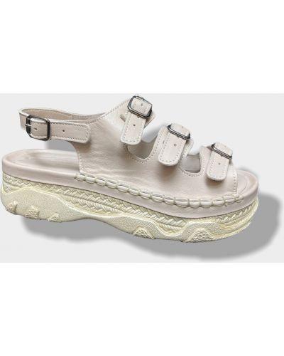 Кожаные сандалии - бежевые Nod Trend
