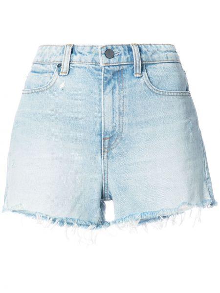 Хлопковые шорты - синие Alexander Wang