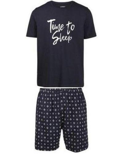 Пижама с шортами - синяя Livergy