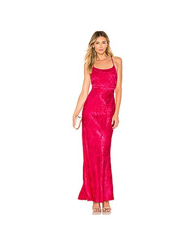Платье макси розовое из парчи Privacy Please