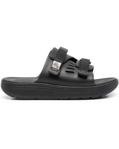 Czarne sandały na platformie Suicoke