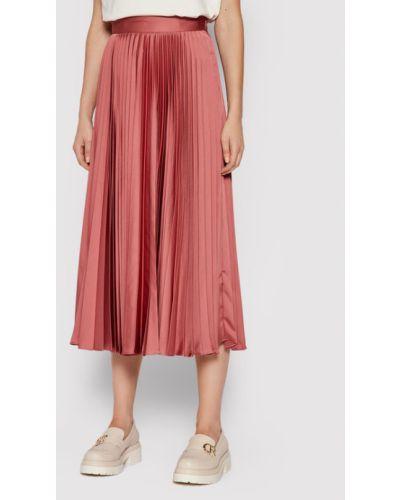 Różowa spódnica plisowana Twinset