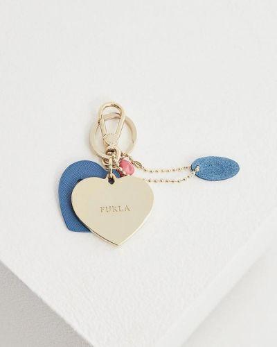 Синяя ключница металлическая Furla