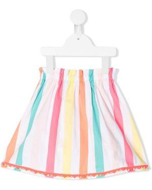Biała spódnica midi w paski bawełniana Billieblush