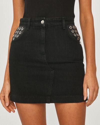 Czarna spódnica mini bawełniana na co dzień Patrizia Pepe